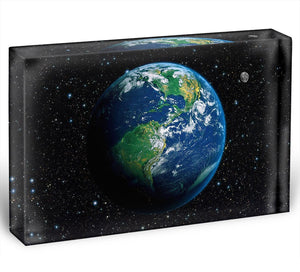 The Earth from space Acrylic Block - Canvas Art Rocks - 1