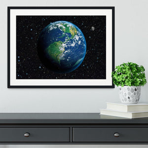 The Earth from space Framed Print - Canvas Art Rocks - 1