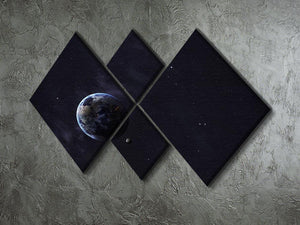 The Earth from space showing all they beauty 4 Square Multi Panel Canvas - Canvas Art Rocks - 2