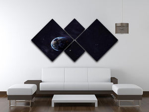 The Earth from space showing all they beauty 4 Square Multi Panel Canvas - Canvas Art Rocks - 3