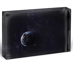 The Earth from space showing all they beauty Acrylic Block - Canvas Art Rocks - 1