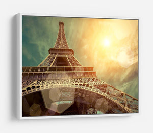 The Eiffel tower under sun light HD Metal Print