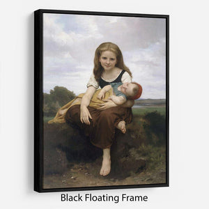 The Elder Sister By Bouguereau Floating Frame Canvas
