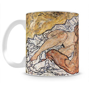 The Embrace by Egon Schiele Mug - Canvas Art Rocks - 1