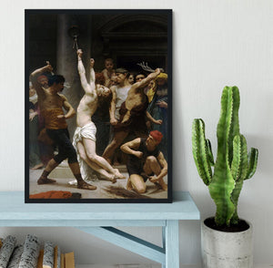 The Flagellation of Our Lord Jesus Christ By Bouguereau Framed Print - Canvas Art Rocks - 2
