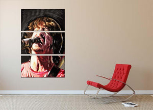 The Foo Fighters Dave Grohl 3 Split Panel Canvas Print - Canvas Art Rocks - 2