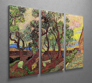 The Garden of Saint-Paul Hospital 3 by Van Gogh 3 Split Panel Canvas Print - Canvas Art Rocks - 4