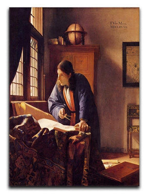 The Geographer by Vermeer Canvas Print or Poster - Canvas Art Rocks - 1