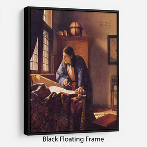 The Geographer by Vermeer Floating Frame Canvas - Canvas Art Rocks - 1