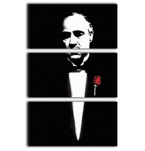 The Godfather Don Corleone 3 Split Panel Canvas Print - Canvas Art Rocks - 1