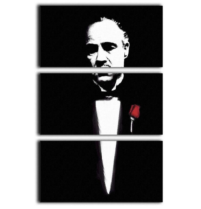 The Godfather Don Corleone 3 Split Panel Canvas Print