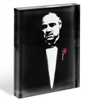 The Godfather Don Corleone Acrylic Block - Canvas Art Rocks - 1