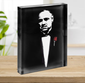 The Godfather Don Corleone Acrylic Block - Canvas Art Rocks - 2
