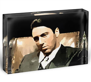 The Godfather Michael Corleone Acrylic Block - Canvas Art Rocks - 1