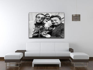 The Goons Peter Sellers Spike Milligan and Harry Secombe Canvas Print or Poster - Canvas Art Rocks - 4