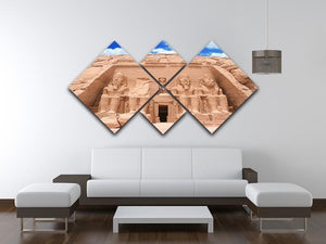 The Great Temple at Abu Simbel 4 Square Multi Panel Canvas  - Canvas Art Rocks - 3
