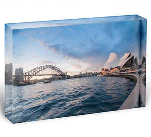The Harbour Bridge Acrylic Block - Canvas Art Rocks - 1