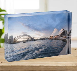 The Harbour Bridge Acrylic Block - Canvas Art Rocks - 2