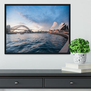 The Harbour Bridge Framed Print - Canvas Art Rocks - 2