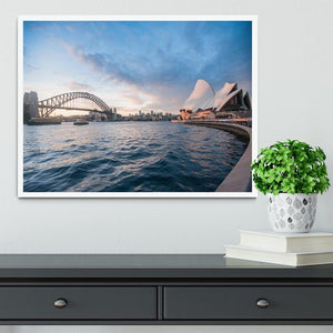 The Harbour Bridge Framed Print - Canvas Art Rocks -6