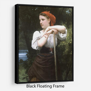 The Haymaker By Bouguereau Floating Frame Canvas