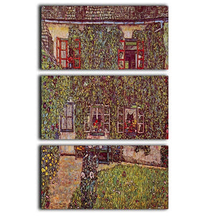 The House of Guard by Klimt 3 Split Panel Canvas Print - Canvas Art Rocks - 1
