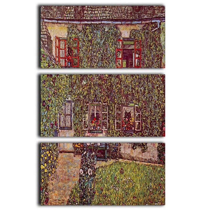 The House of Guard by Klimt 3 Split Panel Canvas Print