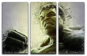 The Hulk 3 Split Panel Canvas Print - Canvas Art Rocks - 1