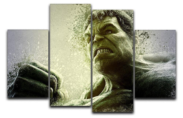 The Hulk 4 Split Panel Canvas