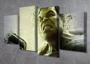 The Hulk 4 Split Panel Canvas - Canvas Art Rocks - 2
