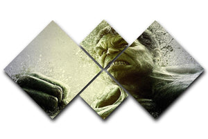 The Hulk 4 Square Multi Panel Canvas  - Canvas Art Rocks - 1