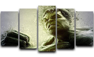 The Hulk 5 Split Panel Canvas  - Canvas Art Rocks - 1