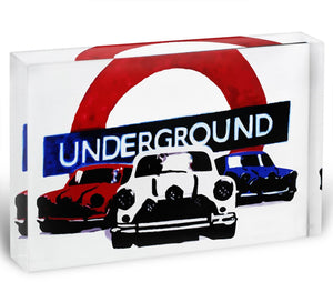 The Italian Job Mini Coopers Acrylic Block - Canvas Art Rocks - 1