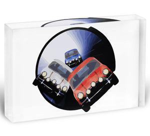 The Italian Job Minis in Tunnel Acrylic Block - Canvas Art Rocks - 1