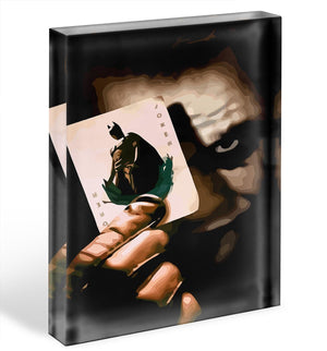 The Joker Batman Acrylic Block - Canvas Art Rocks - 1