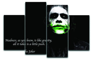 The Joker Madness 4 Split Panel Canvas  - Canvas Art Rocks - 1
