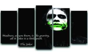 The Joker Madness 5 Split Panel Canvas  - Canvas Art Rocks - 1