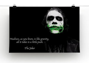 The Joker Madness Canvas Print or Poster - Canvas Art Rocks - 2