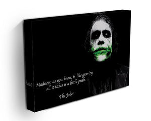 The Joker Madness Canvas Print or Poster - Canvas Art Rocks - 3
