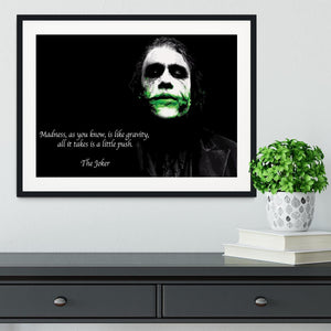 The Joker Madness Framed Print - Canvas Art Rocks - 1