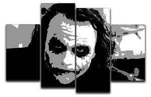 The Joker Pop Art 4 Split Panel Canvas  - Canvas Art Rocks - 1