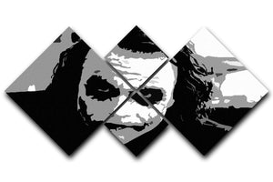 The Joker Pop Art 4 Square Multi Panel Canvas  - Canvas Art Rocks - 1