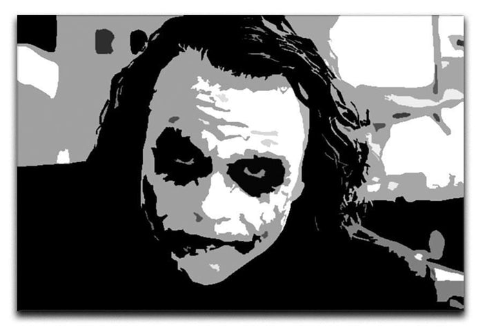The Joker Pop Art Canvas Print or Poster