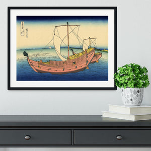 The Kazusa sea route by Hokusai Framed Print - Canvas Art Rocks - 1