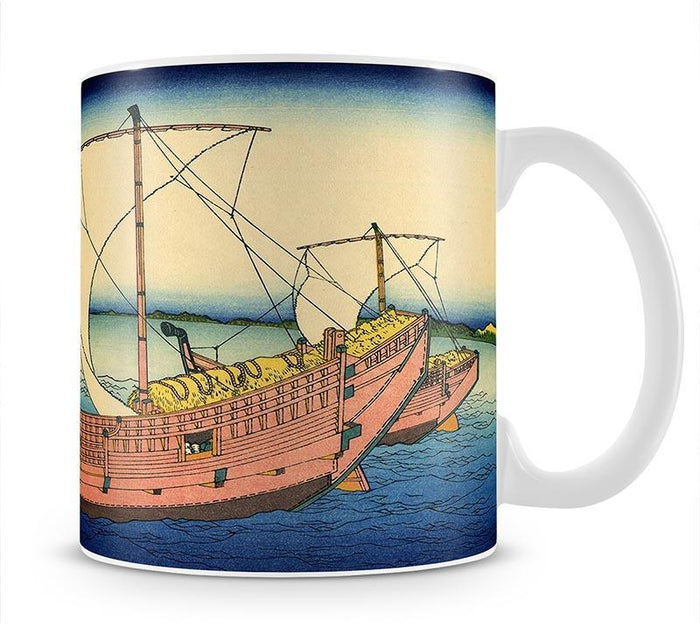 The Kazusa sea route by Hokusai Mug