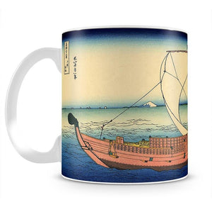 The Kazusa sea route by Hokusai Mug - Canvas Art Rocks - 2