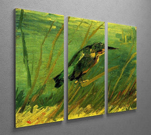 The Kingfisher by Van Gogh 3 Split Panel Canvas Print - Canvas Art Rocks - 4