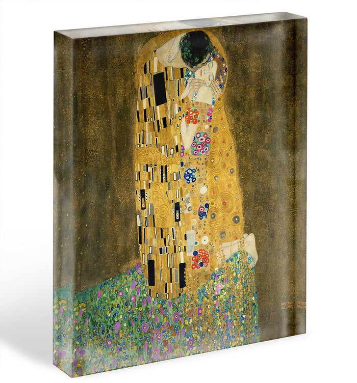 The Kiss by Klimt 2 Acrylic Block
