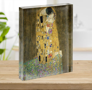 The Kiss by Klimt 2 Acrylic Block - Canvas Art Rocks - 2