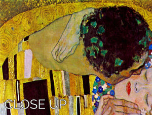 The Kiss by Klimt 3 Split Panel Canvas Print - Canvas Art Rocks - 3